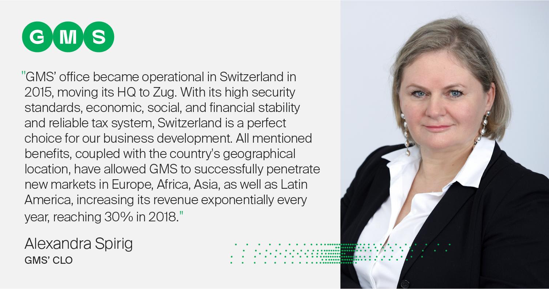 Alexandra Spirig - GMS' CLO | Switzerland | Corporate Tax reform