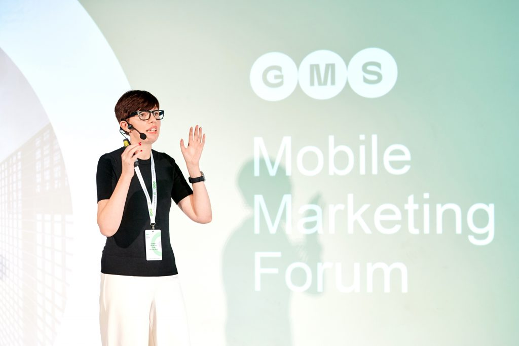 Marina Petrova at GMS Mobile Marketing Forum Kyiv 2019