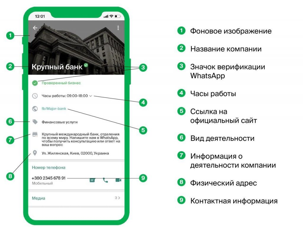 GMS official WhatsApp business profile
