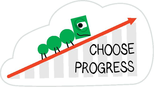 "GMS' ""Choose Progress"" sticker"