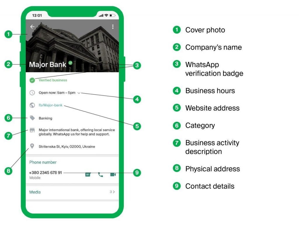 Why should you pay attention to the official WhatsApp business profile?