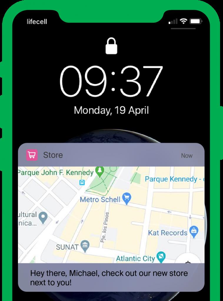 push notifications geolocation