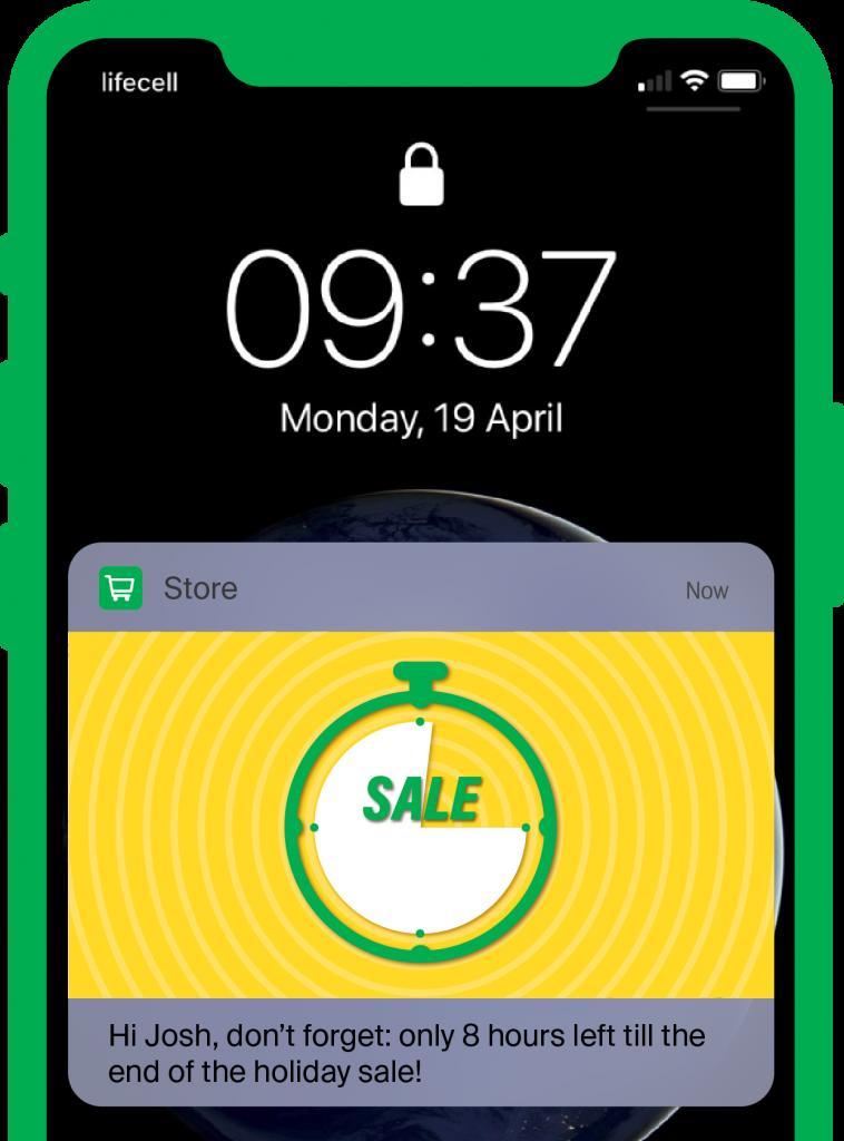 push notification sale