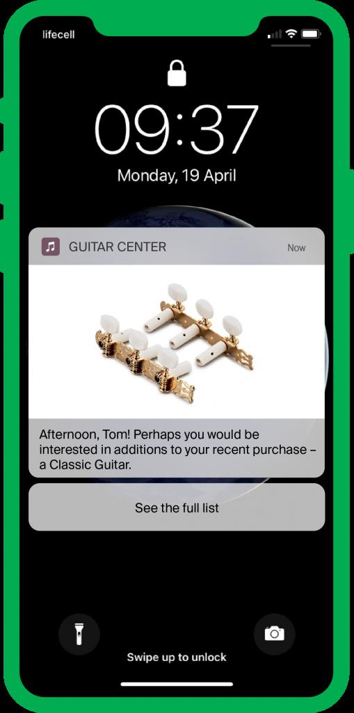 push notification shop