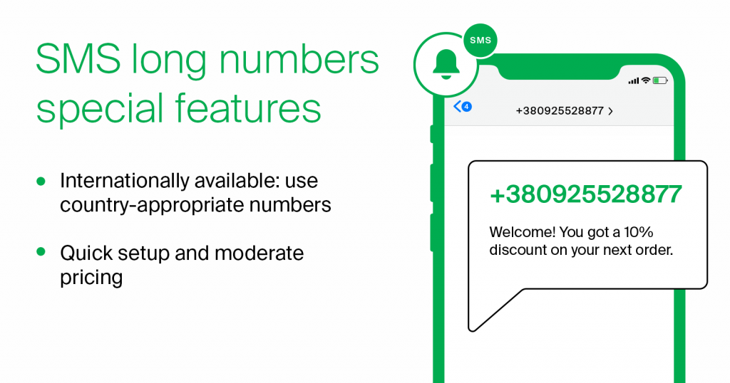 sms long numbers features
