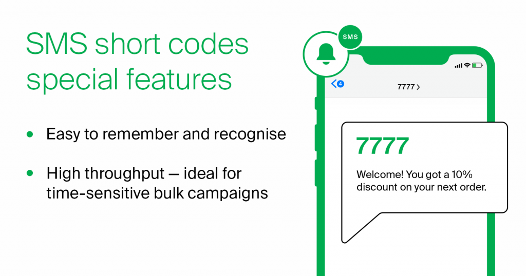 sms short code special features