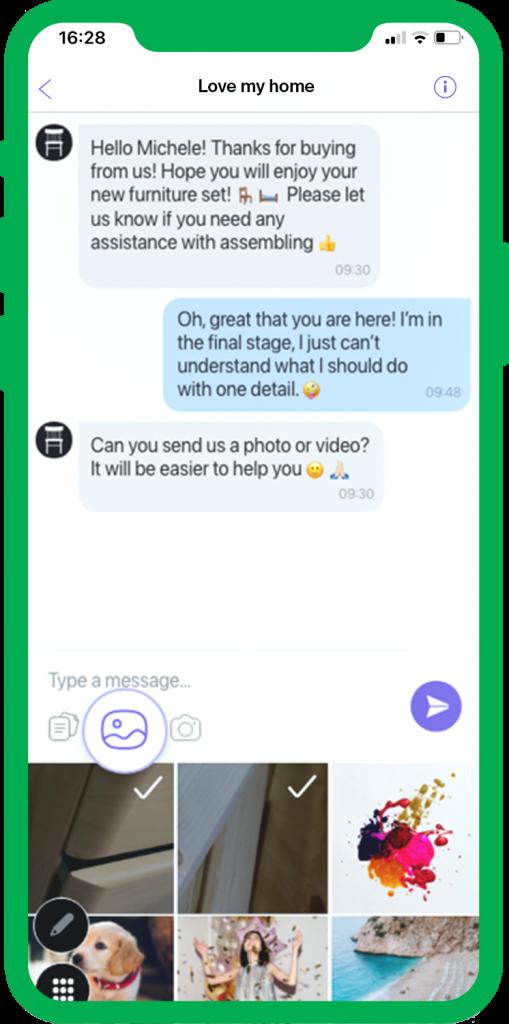 media sharing viber business messaging